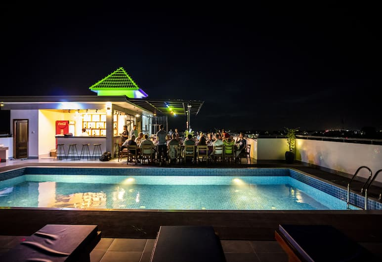Angkor City View Hotel, Siem Reap, Rooftop Pool