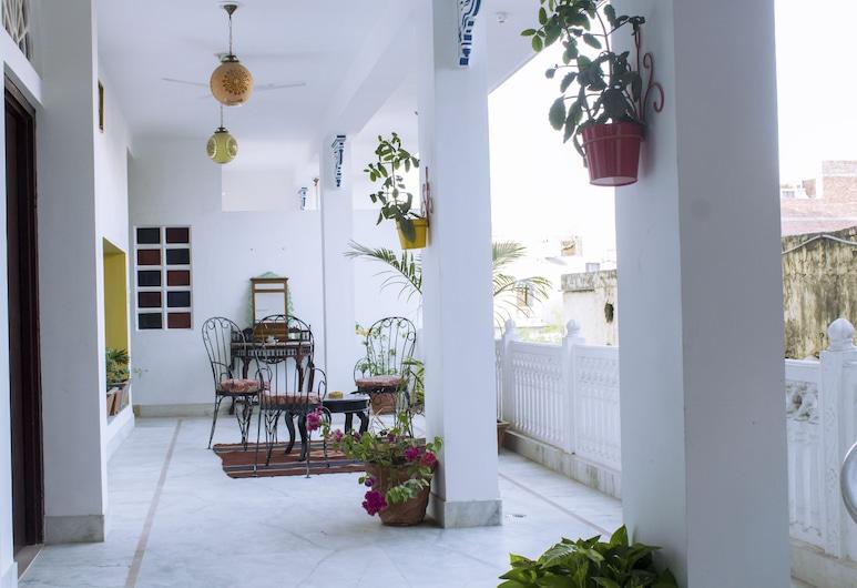 Haveli Kalwara, Jaipur, Quarto luxo, Varanda