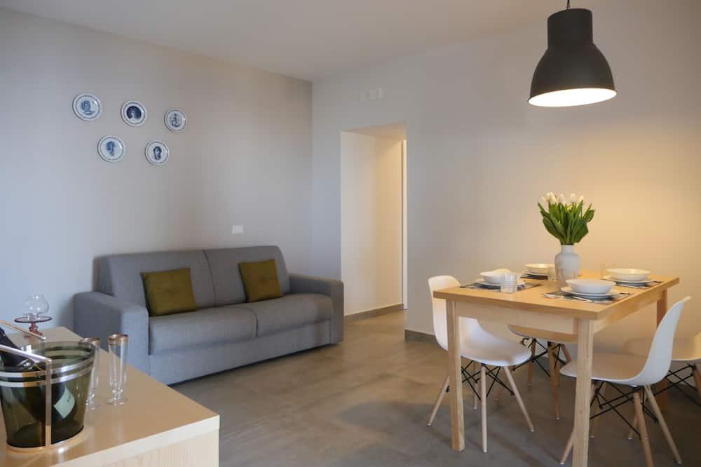 豪華公寓, 1 間臥室, 露台 - 客廳