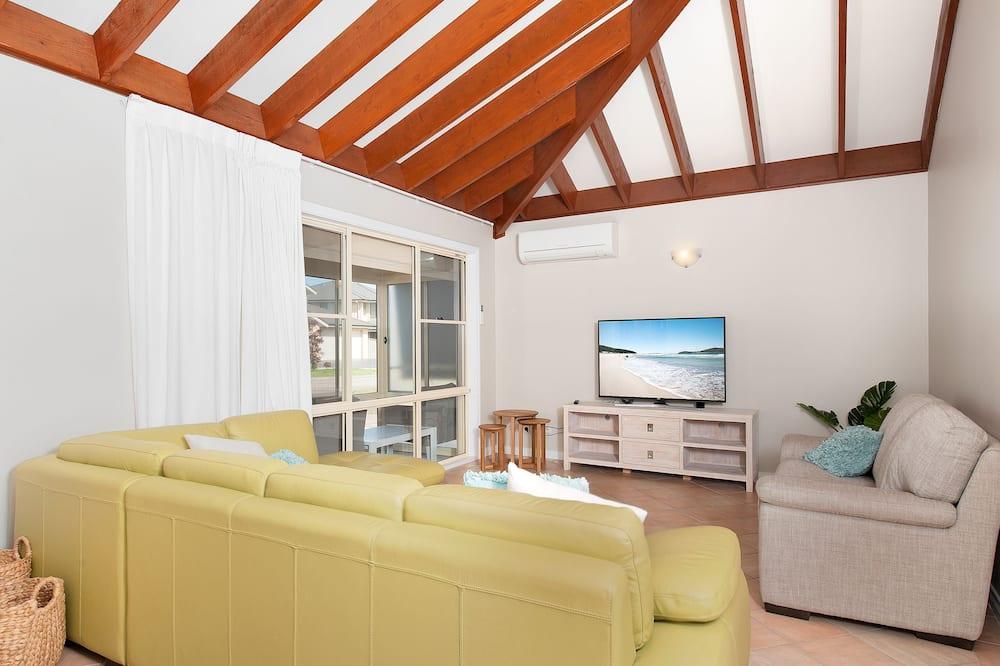 Deluxe Sıra Ev, 3 Yatak Odası, Mutfak, Plaj Kenarı - Oturma Alanı