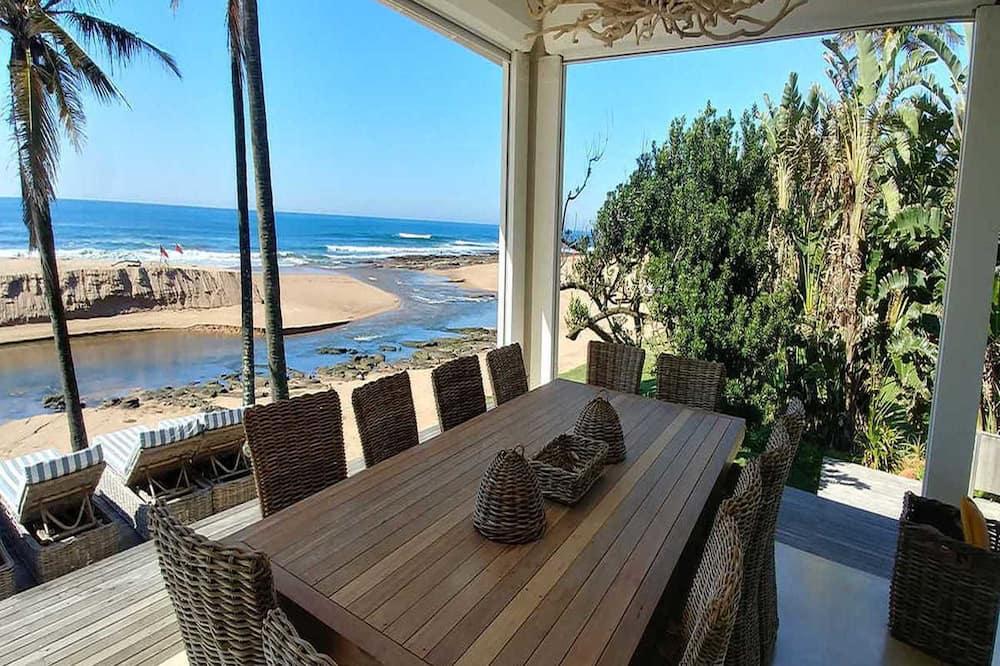 舒適別墅, 6 間臥室, 海景, 海濱 - 客房餐飲服務