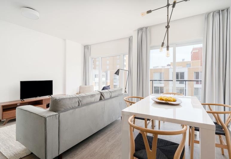 Sonder - Quartier des Spectacles, Montréal, Suite Deluxe, 1 chambre, Salle de séjour