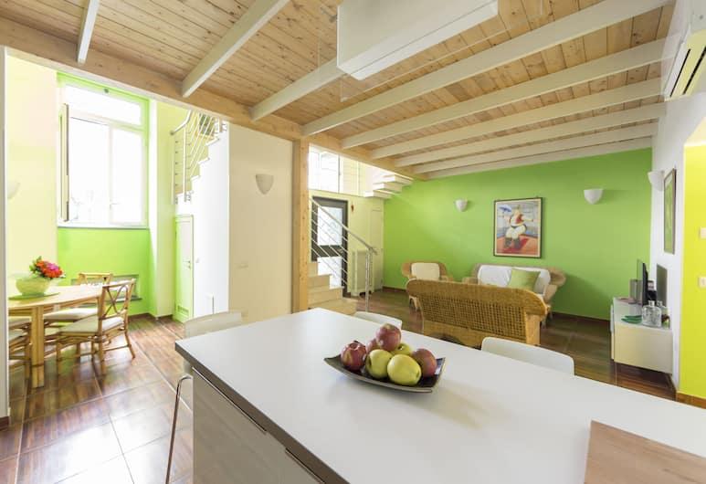 阿里斯托瓦西歐酒店, 那不勒斯, 奢華複式房屋, 2 間臥室 (Peppino), 客廳