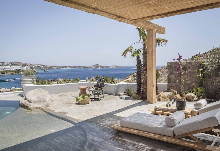 Kensho Psarou, Mykonos, Grande Suite with Outdoor Private Pool, Terasa