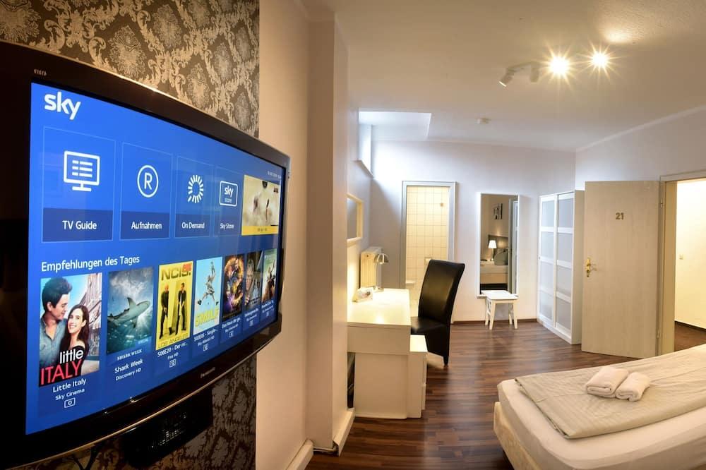 Pokoj City s dvojlůžkem nebo dvěma jednolůžky - Obývací prostor
