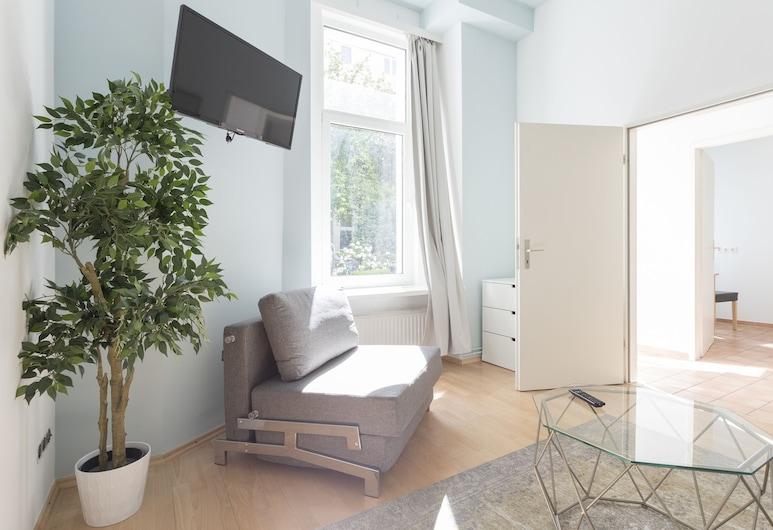 프라임플랫 - 아파트먼트 암 아르님플라츠, 베를린, 시티 아파트, 침실 1개 (Apt 32), 거실 공간