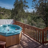 Cabin, 3 Bedrooms, Hot Tub, View - Outdoor Spa Tub