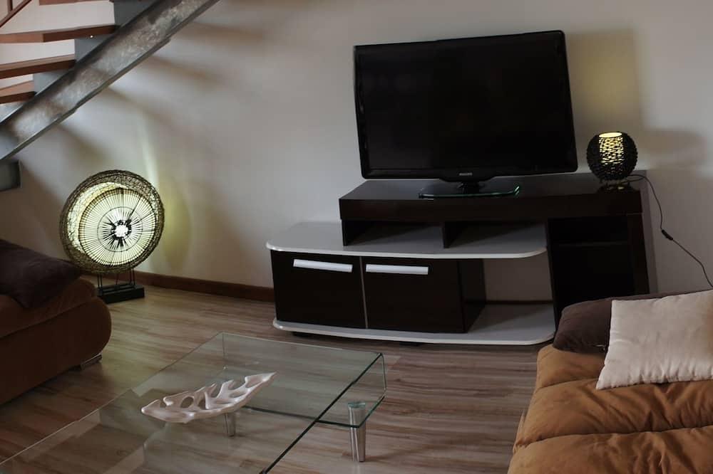 Duplex, Kitchenette, Mezzanine - Living Room