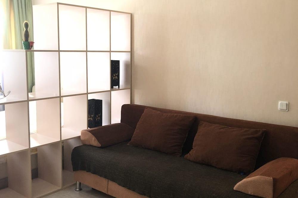 Comfort Apartment, 1 Queen Bed, Park View - Living Room