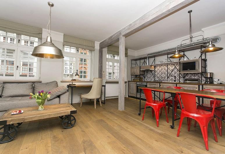 Patio Apartamenty, Gdansk, Design Suite, 1 Bedroom, Kitchenette, City View (Farenheit), Room