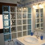 トラディショナル ハウス 4 ベッドルーム 暖炉 - バスルーム
