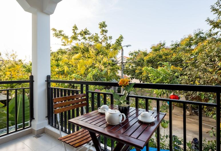 Hoi An Golden Holiday Villa, Hoi An, Suite Deluxe, 1 cama King size, vista al jardín, Balcón