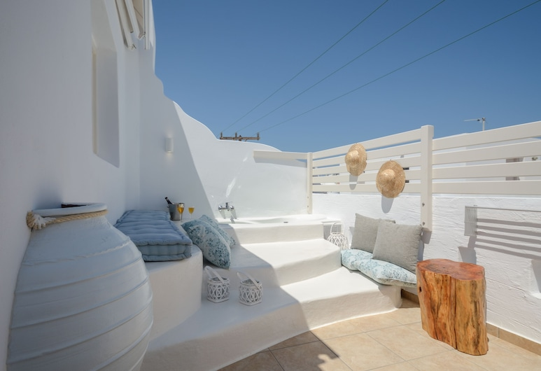 Blue Sky Summer, Naxos, Suite, Hot Tub, Terrace/Patio