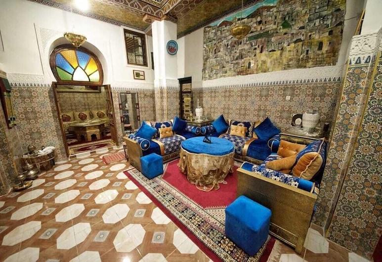 Dar  El Amane Abqari, Fes, Área de estar (saguão)