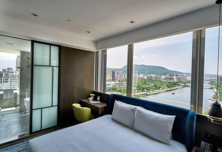 Harbour 10 Hotel, Kaohsiung, Luxusná dvojlôžková izba, výhľad na prístav, Výhľad na mesto