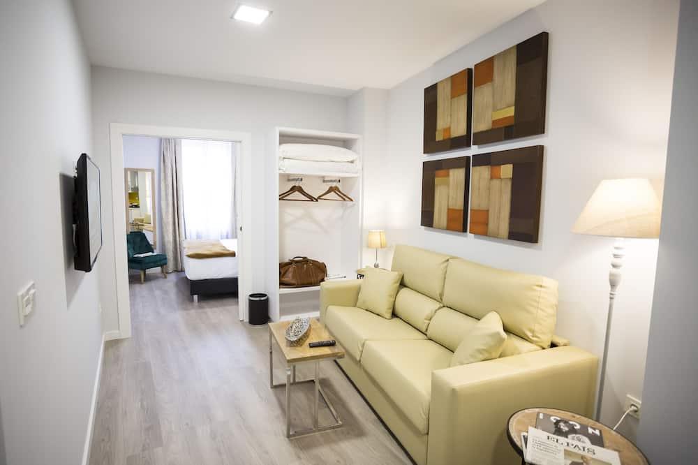 豪華開放式客房, 1 間臥室, 城市景觀 (11) - 客廳