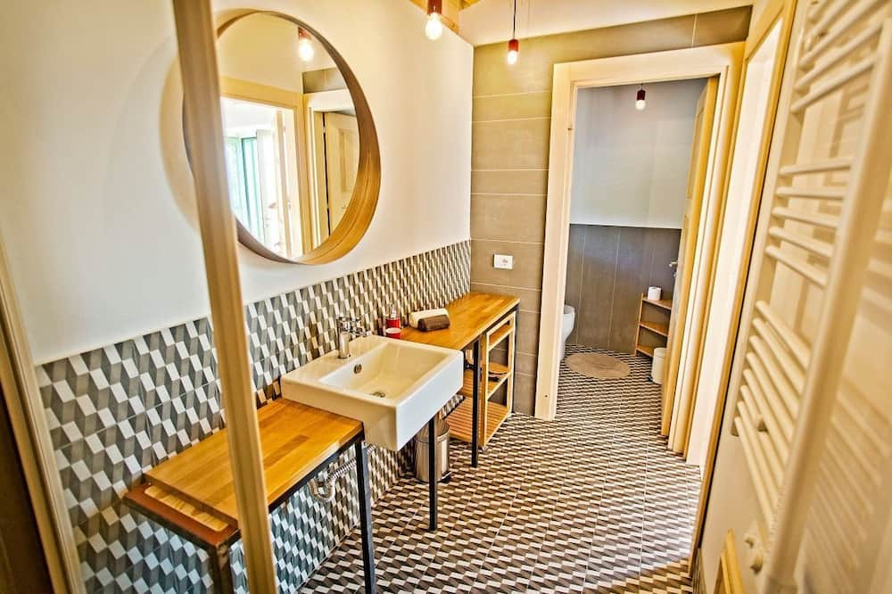 Kambarys (1 dvigulė / 2 viengulės lovos) su patogumais - Vonios kambarys