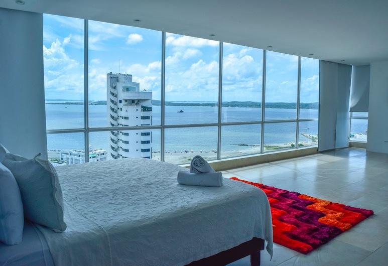 Hotel la Gran Vía, Cartagena, Deluxe-Suite, Balkon, Meerblick, Zimmer