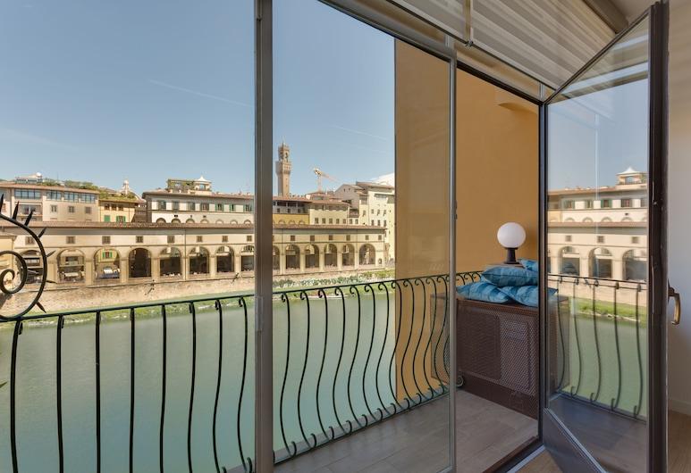 Ponte Vecchio Balcony, פירנצה, דירה, חדר שינה אחד, מרפסת