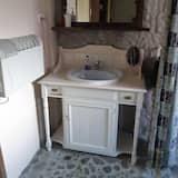 Familie-dobbeltværelse - eget badeværelse - Badeværelse