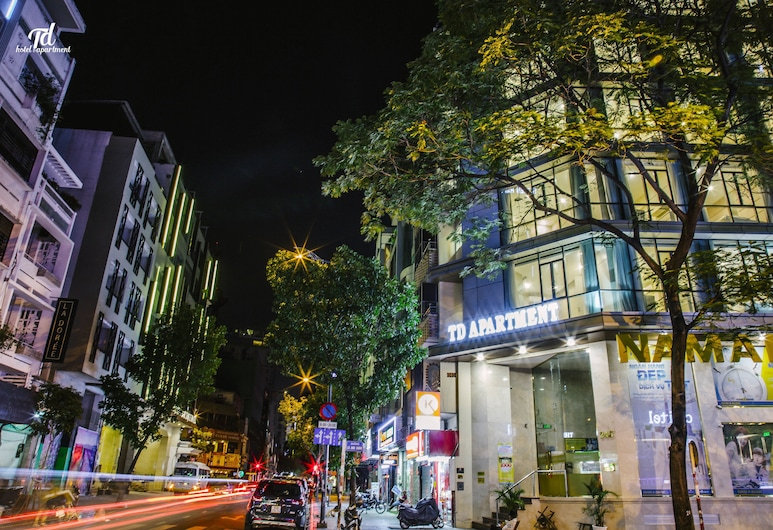 TD Central Hotel & Apartment, Ho Chi Minh City, Hotellfasad - kväll