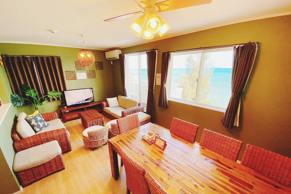 Nhà dành cho gia đình, 3 phòng ngủ, Không hút thuốc, Đối diện biển (KIN1-E-) - Khu phòng khách