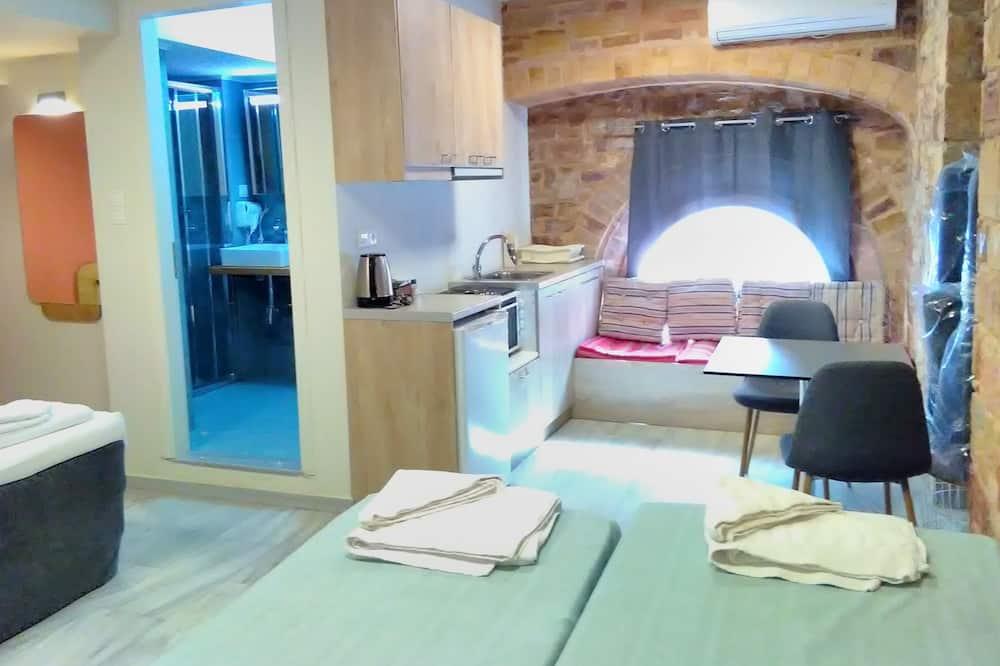 Familien-Vierbettzimmer, 1 Schlafzimmer, Küche, Zwischengeschoss - Wohnbereich