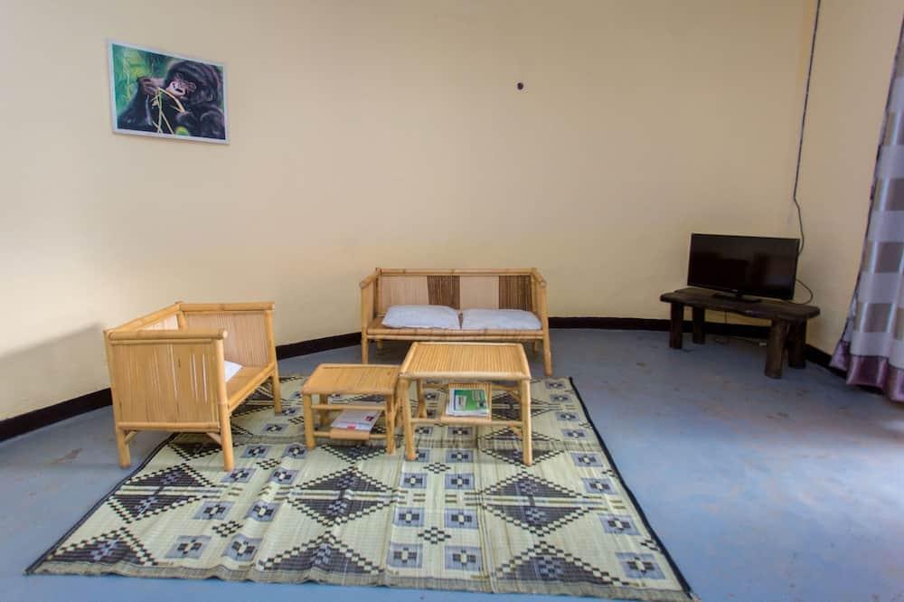 Liukso klasės dvivietis kambarys, 1 didelė dvigulė lova - Svetainės zona