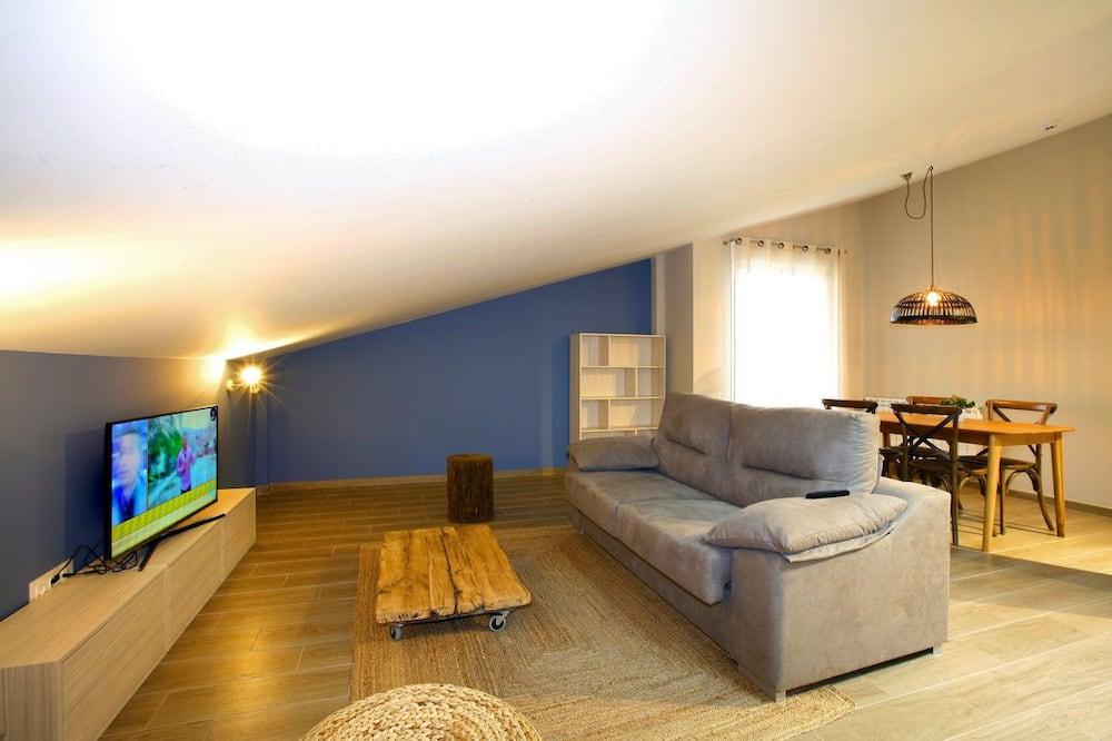 Penthouse, 1 phòng ngủ - Phòng khách