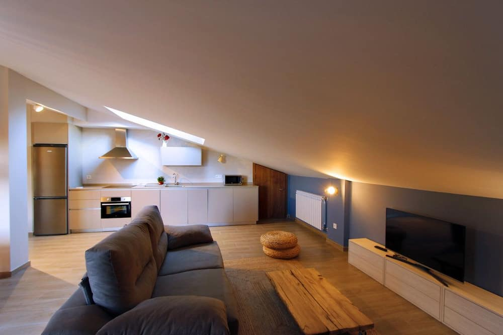 Penthouse, 1 phòng ngủ - Khu phòng khách