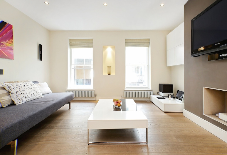 Trafalgar Square - Piccadilly Circus Apt, London, City-Apartment, 2 Schlafzimmer (160. Piccadilly), Wohnzimmer