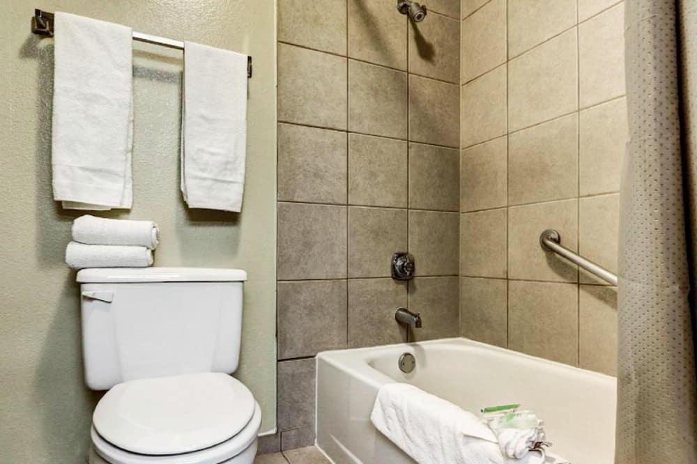 Kambarys, 1 didelė dvigulė lova, su patogumais neįgaliesiems - Vonios kambarys