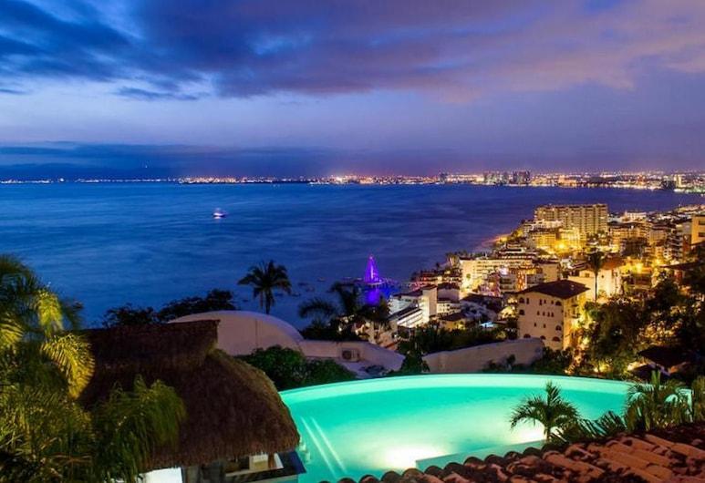 La Cima III-A, Puerto Vallarta, Comfort Condo, Kitchen, Ocean View, View from room
