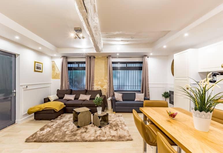 19 - 蒙特格爾工作室飯店, 巴黎, 公寓, 1 間臥室, 客廳