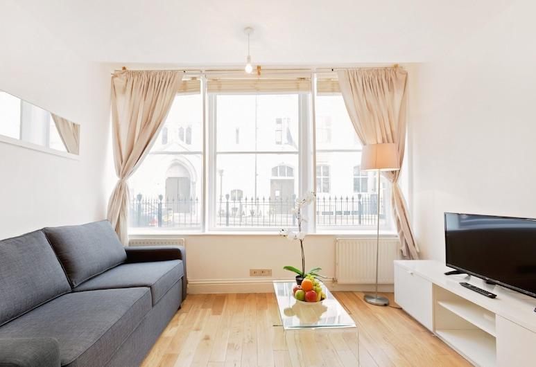馬里波恩 - 艾奇瓦特路公寓酒店, 倫敦, 都會公寓, 2 間臥室 ((120) Harcourt), 客廳