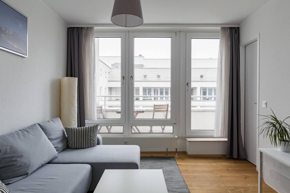 公寓, 1 间卧室, 阳台 (incl. 40€ cleaning fee) - 起居区