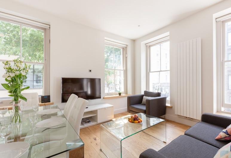 The Fitzrovia Soho Collection Apartments, Londra, City Apart Daire, 3 Yatak Odası ((138) Charlotte 2), Oturma Odası