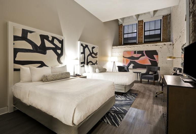 Hotel Indigo Kansas City - The Crossroads, Kansas City, Room, 2 Queen Beds, Accessible, Non Smoking (Hearing), Guest Room
