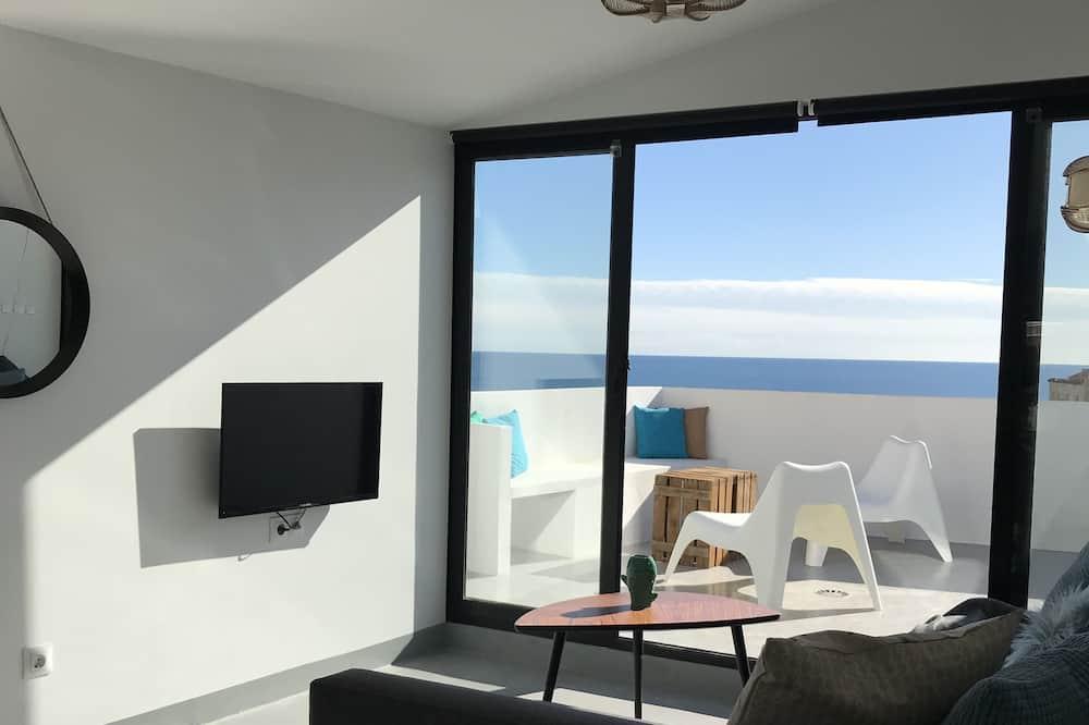 Penthouse, 1 phòng ngủ, Hiên, Quang cảnh biển - Khu phòng khách