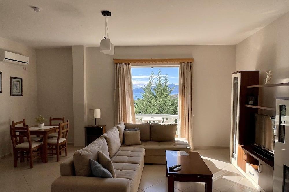 公寓, 1 間臥室, 海景 - 客廳