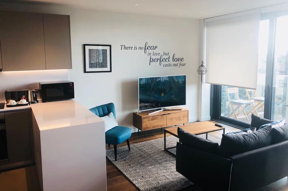 Luksusa dzīvokļnumurs, viena guļamistaba - Dzīvojamā zona