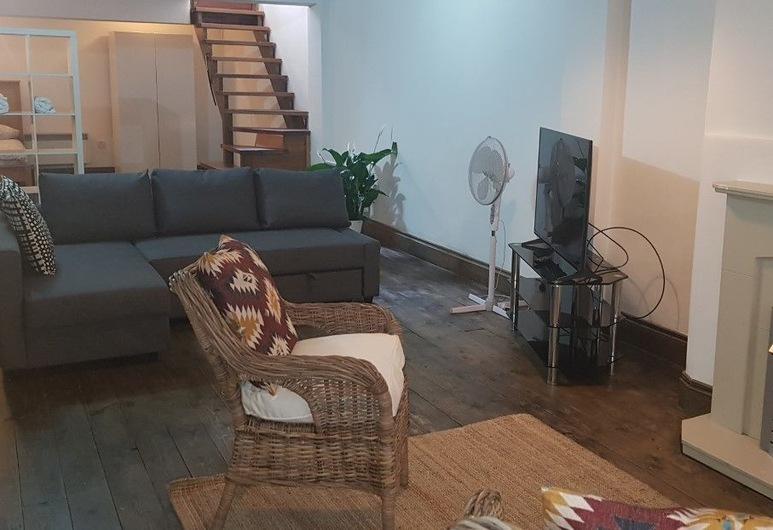 Studio Flat in Stoke Newington High Street, London, Superior apartman, privát fürdőszoba, Lounge