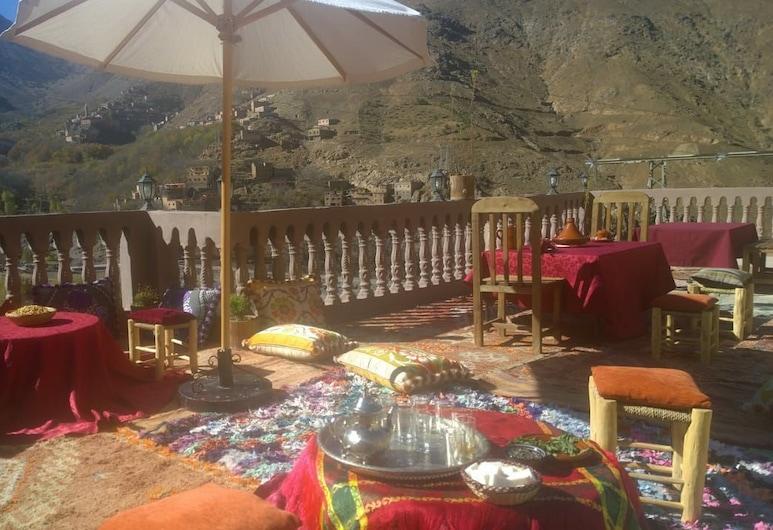 Riad Atlas 4 Seasons, Asni, Restaurante al aire libre
