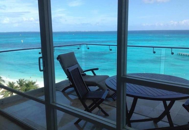 Vista Panorámica Espectacular del Mar Caribe, Cancun, Balkon