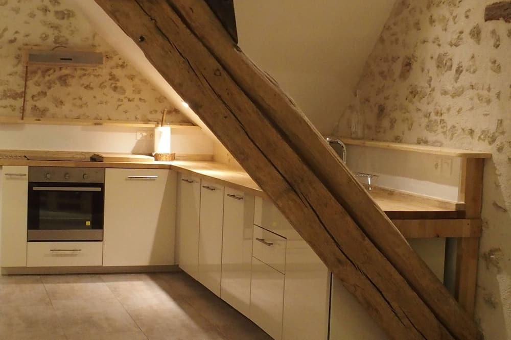 Двухместный номер с 1 двуспальной кроватью - Общая кухня