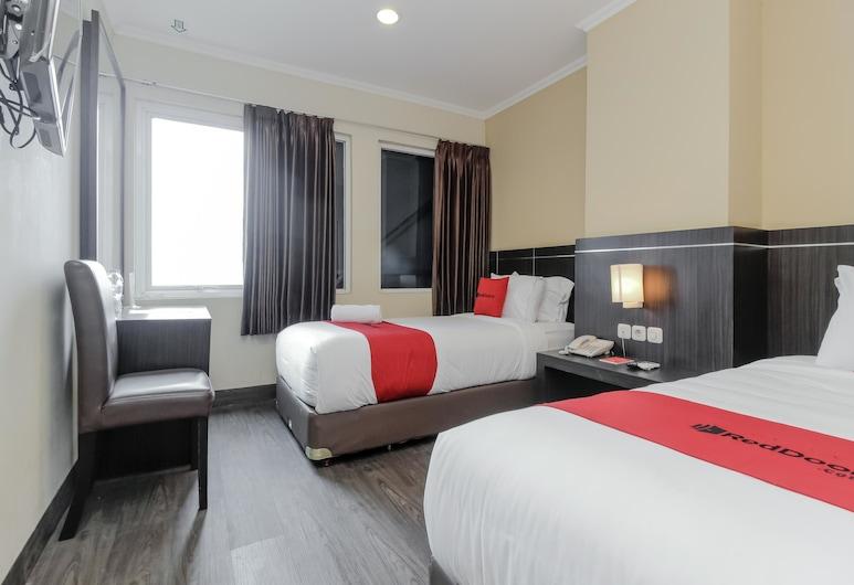 RedDoorz Plus @ Thamrin, Džakarta, Dvivietis kambarys (2 viengulės lovos), Svečių kambarys