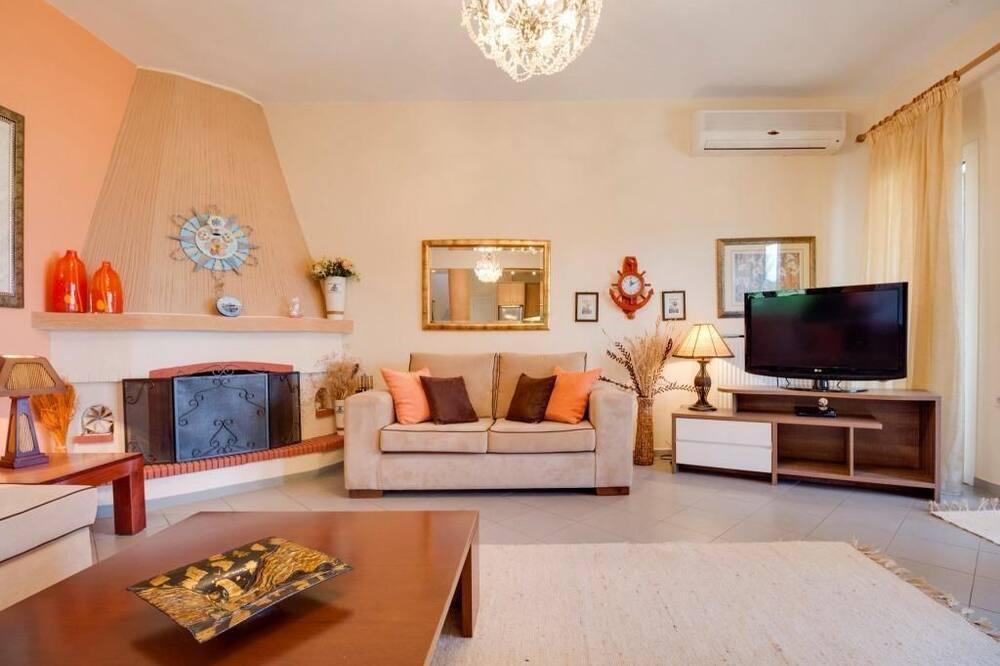 Familienvilla, 5Schlafzimmer, Meerblick - Wohnzimmer