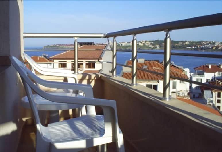 Hotel Chuchulev, Sozopol, Apartamentai, 2 miegamieji, balkonas, Balkonas