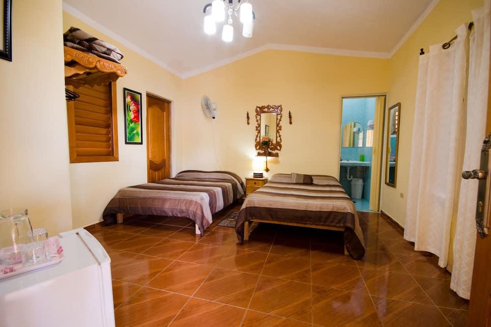 غرفة مزدوجة للاستخدام الفردي - تجهيزات لذوي الاحتياجات الخاصة - منظر للفناء - غرفة نزلاء