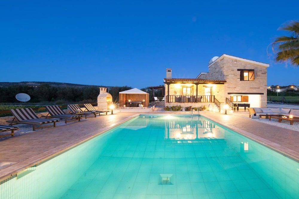 Villa, 3Schlafzimmer, eigener Pool, Meerblick - Terrasse/Patio